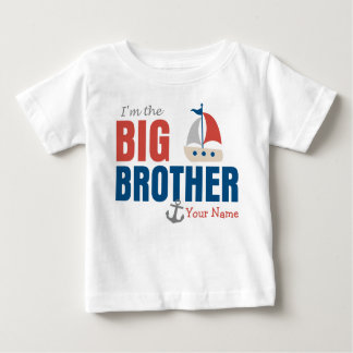 Big Brother Sailboat Personalized Baby T-Shirt