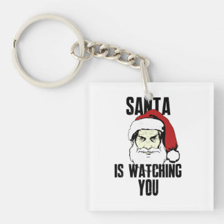 Big Brother Santa Claus Is Watching You Keychain