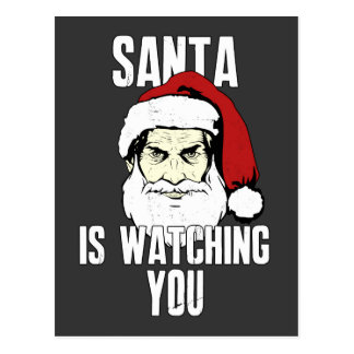 Big Brother Santa Claus Is Watching You Postcard