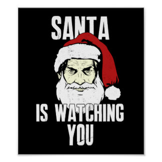 Big Brother Santa Claus Is Watching You Poster