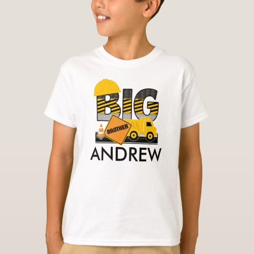Big Brother Shirt  Construction  Sibling Shirt