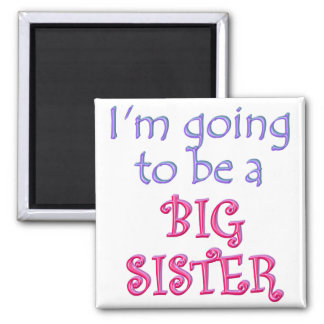 Big Brother/Sister 2 Inch Square Magnet