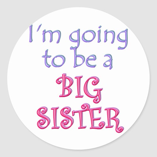 Big Brother/Sister Classic Round Sticker