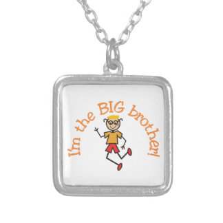 Big Brother Square Pendant Necklace