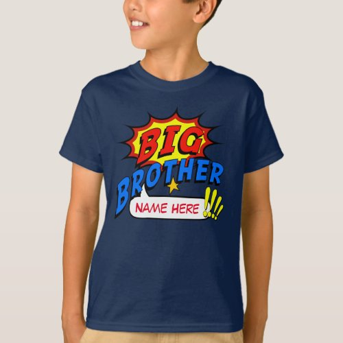 Big Brother Superhero Custom T_Shirt