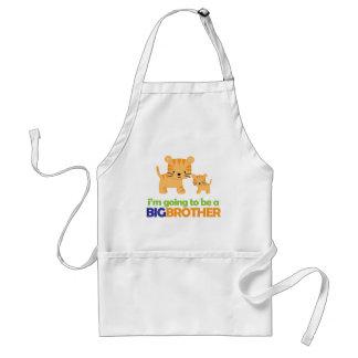 Big Brother Tiger T-shirt Pregnancy Announcement Adult Apron