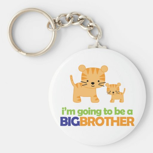 Big Brother Tiger T-shirt Pregnancy Announcement Key Chains