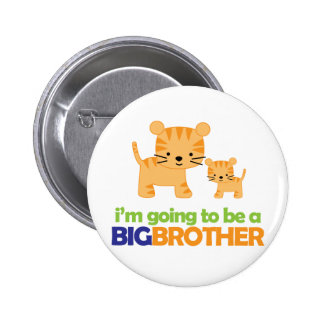 Big Brother Tiger T-shirt Pregnancy Announcement Pinback Button