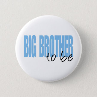 Big Brother To Be (Blue Block Font) Pinback Button