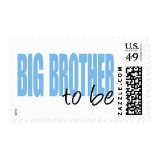 Big Brother To Be (Blue Block Font) Postage Stamp