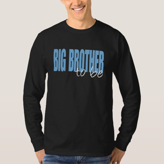 Big Brother To Be (Blue Block Font) T-Shirt