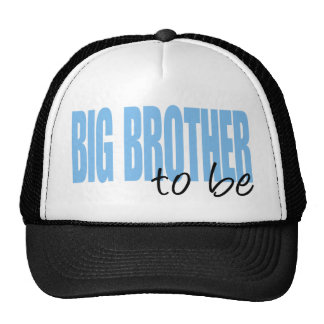Big Brother To Be (Blue Block Font) Trucker Hat