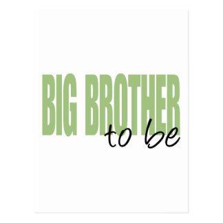 Big Brother To Be (Green Block Font) Postcard