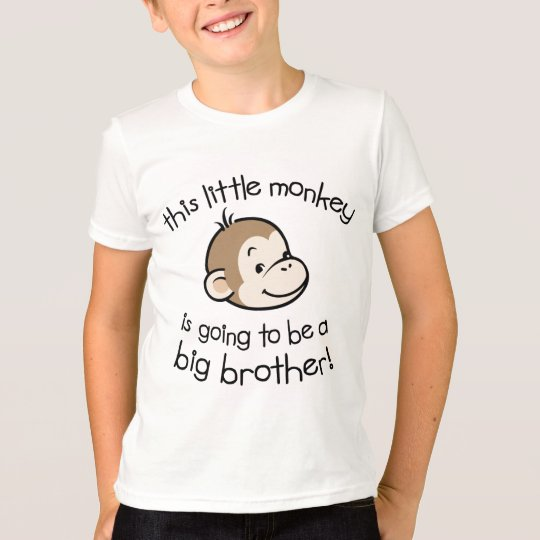 Big Brother to be - Monkey Face T-Shirt