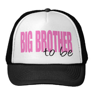 Big Brother To Be (Pink Block Font) Trucker Hat