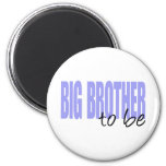 Big Brother To Be (Purple Block Font) Magnets