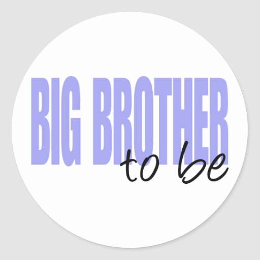Big Brother To Be (Purple Block Font) Round Stickers