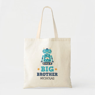 Big brother tote bag with retro robot