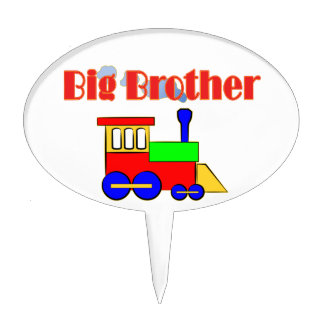 Big Brother Train Engine Cake Topper