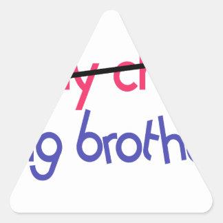 Big Brother Triangle Sticker