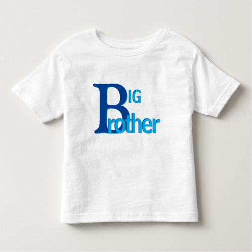 Big Brother Typography Design in Blues  Cute Boys Toddler T_shirt