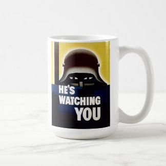 BIG BROTHER WATCHING YOU COFFEE MUG