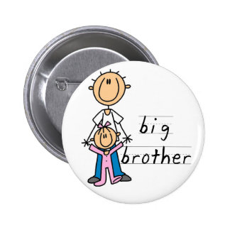 Big Brother with Baby Sister Tshirts and Gifts 2 Inch Round Button