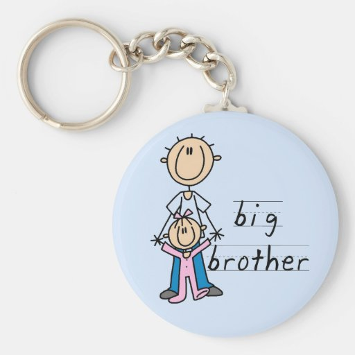 Big Brother with Baby Sister Tshirts and Gifts Basic Round Button Keychain