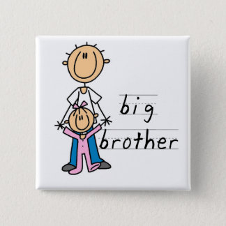 Big Brother with Baby Sister Tshirts and Gifts Pinback Button