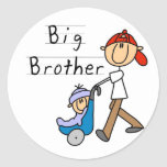 Big Brother With Little Brother Classic Round Sticker