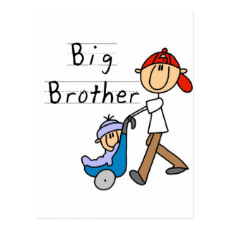 Big Brother With Little Brother Postcard
