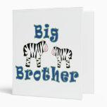Big Brother Zebra Vinyl Binders