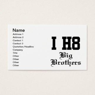 big brothers business card