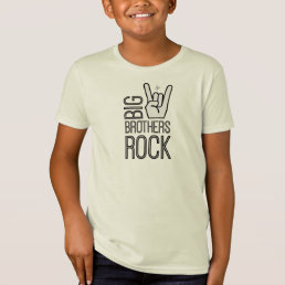 Big Brothers Rock!  A Hip & Modern Big Bro T-Shirt