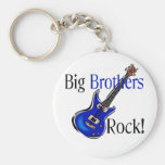 Big Brothers ROCK! Basic Round Button Keychain