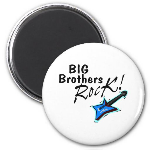 Big Brothers Rock Magnets