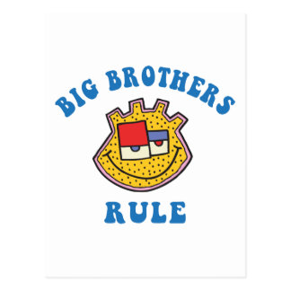 Big Brothers Rule T-Shirt Postcard