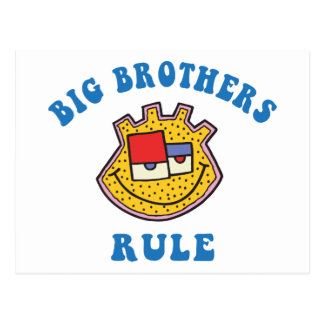 Big Brothers Rule T-Shirt Postcard