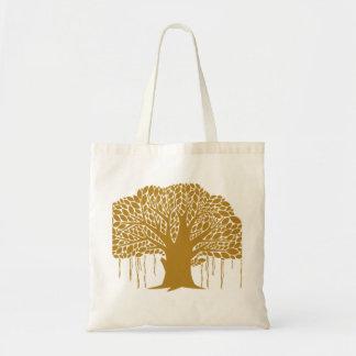 Big Brown Banyan Tree Tote Bag