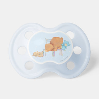 Big Brown Bear, Calico, & Floppy Share Two Chairs Pacifier