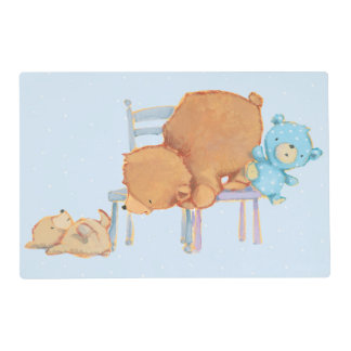 Big Brown Bear, Calico, & Floppy Share Two Chairs Placemat