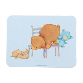 Big Brown Bear, Calico, & Floppy Share Two Chairs Rectangular Photo Magnet