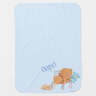 Big Brown Bear, Calico, & Floppy Share Two Chairs Swaddle Blanket