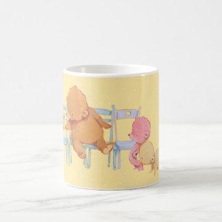 Big Brown Bear & Friends Share Four Chairs Coffee Mug