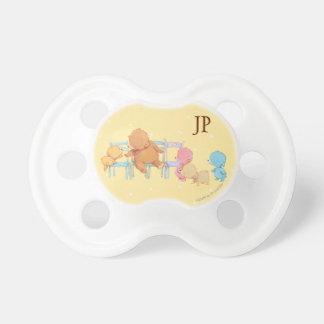 Big Brown Bear & Friends Share Four Chairs Pacifier