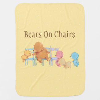 Big Brown Bear & Friends Share Four Chairs Swaddle Blanket