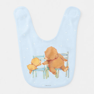 Big Brown Bear Helps Little Yellow Bear Baby Bib
