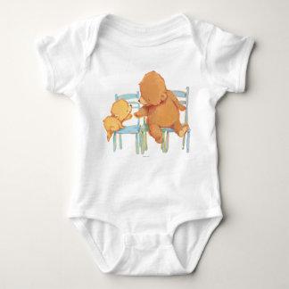 Big Brown Bear Helps Little Yellow Bear Baby Bodysuit