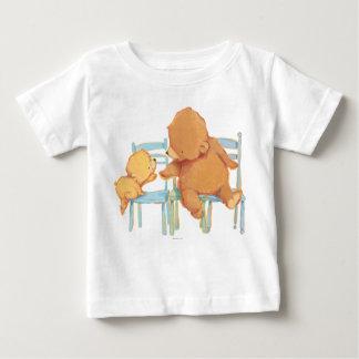 Big Brown Bear Helps Little Yellow Bear Baby T-Shirt