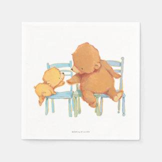 Big Brown Bear Helps Little Yellow Bear Paper Napkin